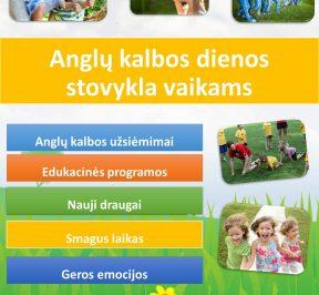 Anglų kalbos dienos stovykla vaikams