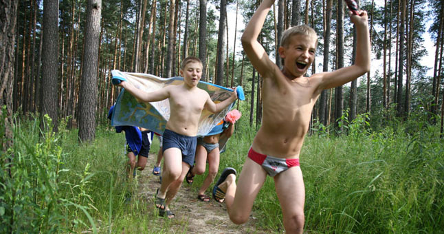 ITAR-TASS 43: RYAZAN REGION, RUSSIA. JUNE 30. In Ozerny health camp. (Photo ITAR-TASS /Alexander Ryumin)