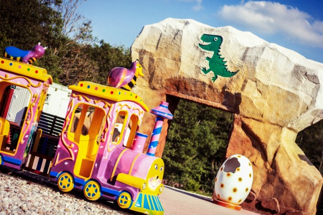 Dino Radailiai karusele traukinukas_